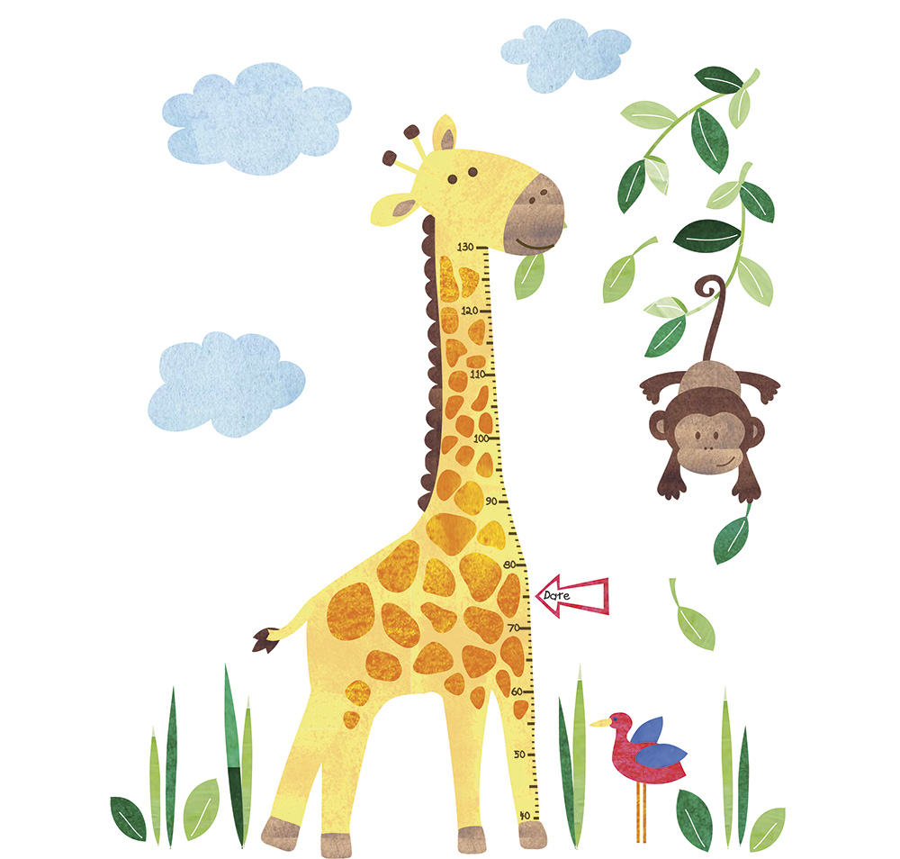 Wall stickers for kids giraffe height chart wall stickers giraffe height chart wall stickers amipublicfo Gallery