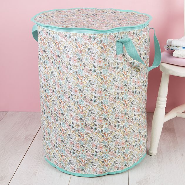 Cute Laundry Bags storage solutions : meadow floral laundry bag