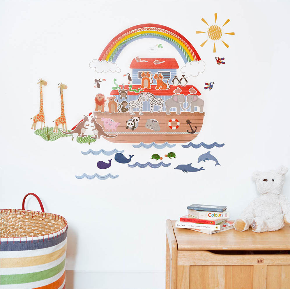 Wall stickers for kids noahs ark wall stickers noahs ark wall stickers amipublicfo Gallery